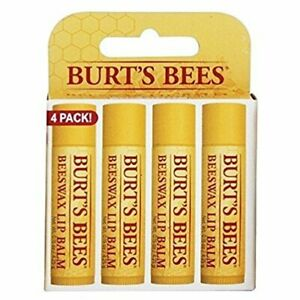 Burt's Bees Beeswax Lip Balm With Vitamin E & Peppermint 4-Pack