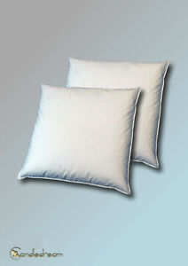 2 Set 80x80 CM Pillows Feather 100% Spring White Goose 1000 G Cream