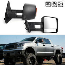 Heated+Power Extend LED Signal Towing Mirrors For 07-17 Toyota Tundra Sequoia
