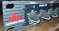 DBX 266XL Compressor Gate XLR TRS TS  1 space rackmount very clean