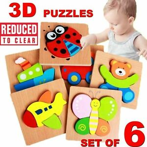 Jigsaw Puzzle Wooden 3D Numeric Blocks Learning Education For Children Toys Gift
