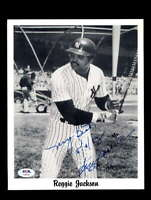 Reggie Jackson PSA DNA Coa Hand Signed 1983 8x10 Photo Autograph