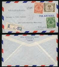 PAKISTAN ROYAL NETHERLANDS EMBASSY PRINTED AIRMAIL ENV + GPO HS REG.ETIQUETTE