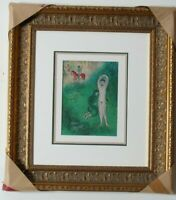 Lithograph from Daphnis et Chloe Suite by Marc Chagall Framed and Matted