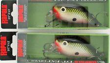 (2) Rapala DT-FAT-01 Crankbait Lures  Square Lip Bleeding Olive Shiner