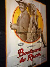 brigitte bardot  BOULEVARD DU RHUM  ! lino ventura affiche cinema 1971