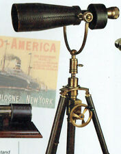 magnificent artillery officers  monocular, on leather covered adjustable tripod