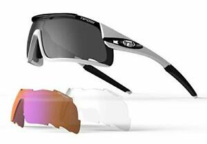Tifosi Optics Davos 3 Interchangeable Cycling Sunglasses White/Black for Cycl...