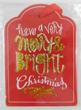 Christmas Novelty Wood Gift Tag Have A Very Merry & Bright Christmas New