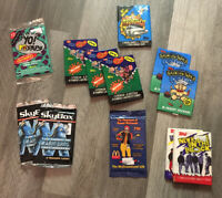 VTG 80s 90s Trading Cards LOT 12 PC DEAD STOCK NOS COLLECTIBLE VARIETY RARE