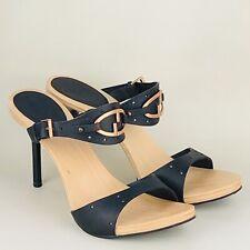 GUCCI Ladies Black Leather GG Mules Size: IT 37.5 C | UK 5.5 | EUR 38.5 | US 7.5