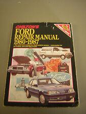Chilton Ford Repair Manual 1980-1987 Car & Light Truck DYI repair guide