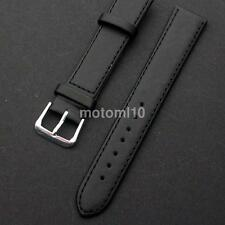 Ultrathin Smooth Softly Leather Watch Strap Band Black&Brown 16mm- 22mm