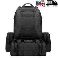 Waterproof Outdoor Military Tactical Backpack Rucksack Hiking Travel Bag 55L