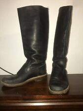 ROOTS Ladies Black Boots,Size 7 US Style Casual Party, Calf Height