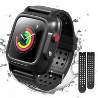 For Apple Watch Series 3 Waterproof Case 42mm 38mm Full Body Cover & Soft Bands