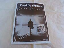 CHARLELIE COUTURE - Publicité de magazine / Advert !!! QUOI FAIRE 1983 !!!