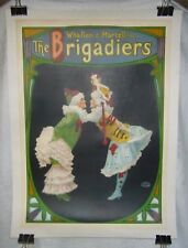 1896 WHALLEN MARTELL VAUDEVILLE BRIGADIERS TROUPE LINEN MOUNT STONE LITHO POSTER