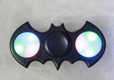 LED Light UP Batman Black Fidget Hand Spinner Stress Reduce Finger Game Desk Toy