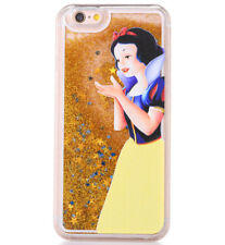 iPhone 6+ Plus / 6S+ Plus - SNOW WHITE WATERFALL LIQUID GOLD GLITTERS HARD CASE