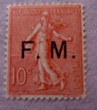 timbre   FM  type semeuse n°4 10c rose neuf *