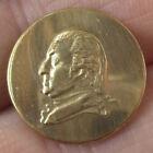 3/4' Antique Gold Gilt, 1916 Restrike of George Washington Brass Head Button