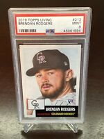 2019 Topps Living Set Brendan Rodgers RC Colorado Rockies Rookie PSA 9