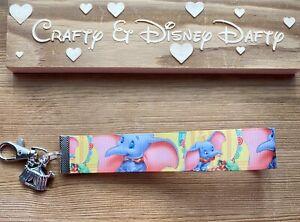 Disney's Dumbo-inspired Key Fob Wristlet Key Chain Lanyard