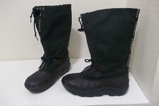WOMENS SOREL WATERPROOF GREEN BLACK WINTER SNOW BOOTS SZ 6 REMOVABLE LINERS