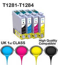 16 Ink Cartridges For T1281 T1282 T1283 T1284 T1285 NON-Original Epson