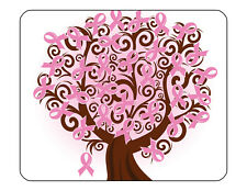 "9""x7"" MOUSE PAD - Breast Cancer Awareness 5 Find Cure Pink Women Tatas Survivor"