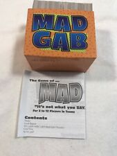 MAD GAB Replacement Cards  And Instructions For Mattel Board Game