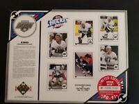 1990-91 Upper Deck 8x10 Commemorative Sheet Los Angeles Kings  #'d 1618/19,500