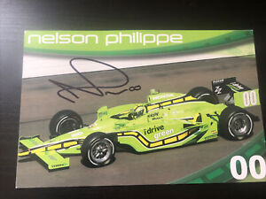 Nelson Philippe Signed 2009 Indy 500 Handout
