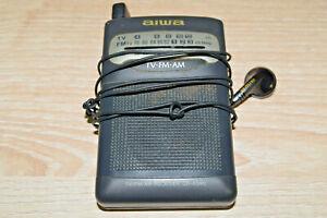 AIWA TV/FM/AM RECEIVER CR-AS40 VINTAGE WORKING RARE Portable 191025
