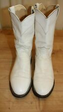 Boots roper JUSTIN vintage cuir blanc pointure 40,5 made in USA