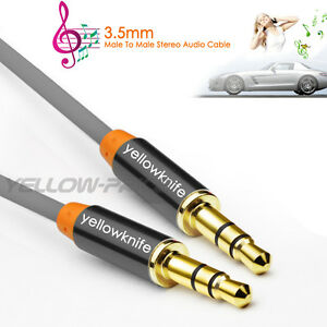 3.5mm AUX AUXILIARY CORD Male to Male Stereo Audio Cable for PC iPod MP3 CAR CA