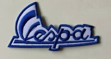 VESPA SCOOTER MOD- BLUE- SIGNATURE -Sew on Iron on Embroidered- Patch
