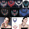 Fashion Women Pendant Crystal Choker Chunky Statement Chain Bib Necklace Jewelry