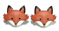 CUTE FOX HEAD STUD EARRINGS (S044)
