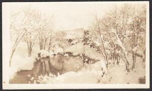 Winter in Flagstaff, Maine RPPC Bicknell Manufacturing Co. Real Photo Postcard