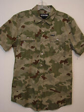 Zoo York 130323 Young Mens S/S Camo Casual Shirt NWOT - Size Small