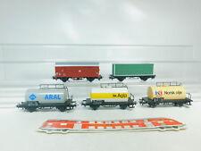 BM486-1# 5x Märklin H0/AC Güterwagen: Aral DB + Agip FS + Norol NSB etc