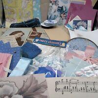 Antique photo album Ephemera lot vintage paper junk journaling crafts collage