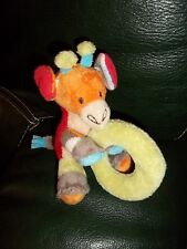 Doudou HAPPY HORSE hochet girafe en velours