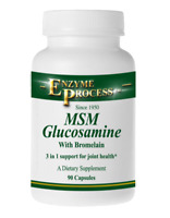 MSM/GLUCOSAMINE WITH BROMELAIN 90 - Dietary Supplements - Enzyme Process