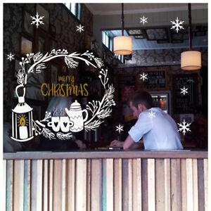 adesivi vetrine vetrofanie natale bar caffè wall stickers addobbi natalizi a0656