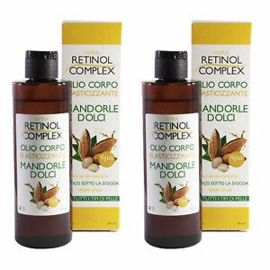 2 Pieces Retinol Complex Oil Body Elasticity Almond Sweet 200ml MI-319