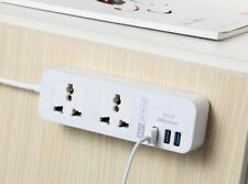 Extension Electrical Socket Power Strip EU UK US 5V 2.4A With 3 USB Outlet Plugs