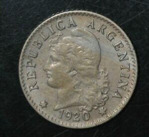 Argentina 5 Centavos 1920 (((2414